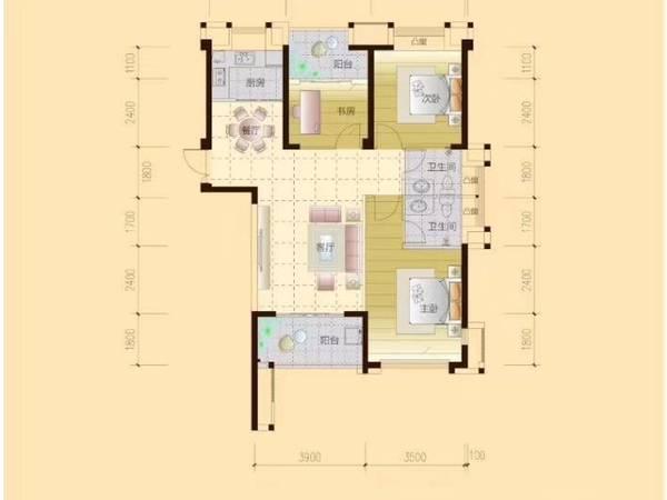 出售罗源湾滨海新城3室2厅2卫100平米42万住宅