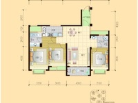 滨海新城11区 中高层3房,稀缺房源,毛坯大三房!