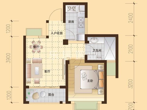 罗瑞苑标准精装单身公寓仅26万出售 拎包入住