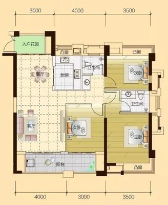 滨海新城3房2卫113平,高层不顶,视野无敌,送车位