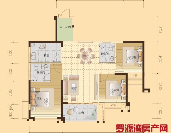 111平三房两卫 户型方正 楼层好 实验小学旁接送方便