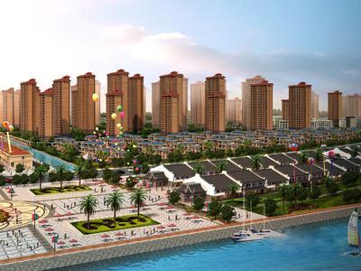 滨海新城,中层采光极好,黄金楼层,稀缺户型