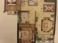 罗马高层毛坯两房半,92平