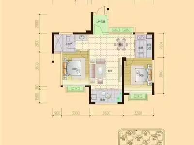 出售罗玉苑 13区 2室2厅1卫82平米35.8万住宅