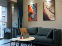 滨海单身公寓舒适温馨,设施齐全,拎包即住:17759876789