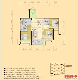 出售罗旺苑 19区 3室2厅2卫109平米46万住宅