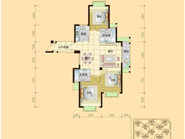 独家房源 10区稀缺3房112平 端头高层不顶,仅售51万