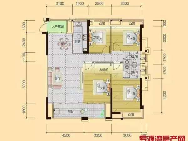 滨海新城,稀缺户型,122平米,四房两卫,超大阳台,赠送车位,急售53.8万
